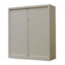 Armoire basse à rideaux PP 43x120x136 cm.