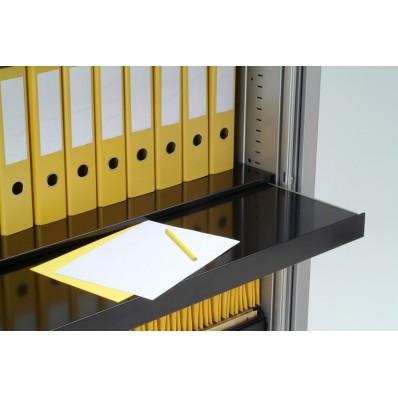 Tablette télescopique noire largeur 100 cm