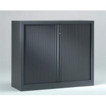 Armoire basse à rideaux PP 43x120x100 cm