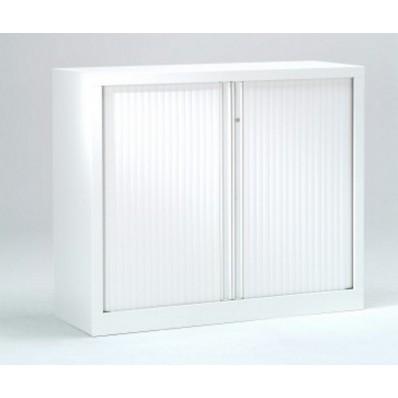 Armoire basse à rideaux PP 43x100x100 cm.