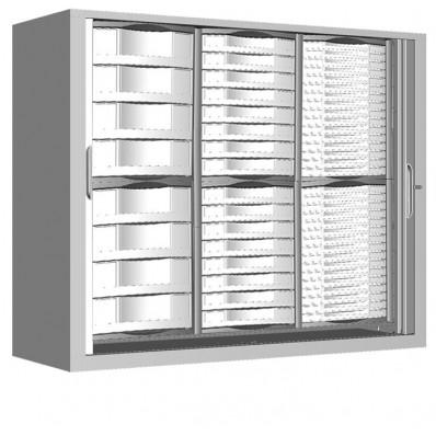 Armoire a rideaux H100 cm équipée de 56 tiroirs