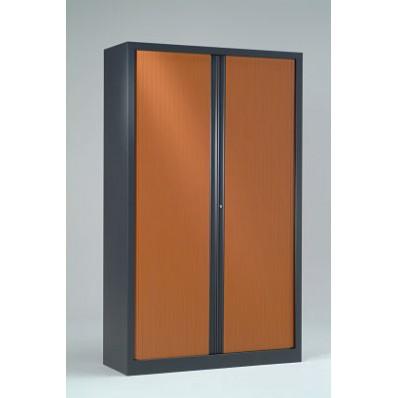 Armoire haute à rideaux 43x100x198 cm - Rideaux décor bois