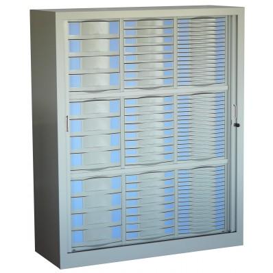 armoire a rideaux mi haute 84 tiroirs. Black Bedroom Furniture Sets. Home Design Ideas