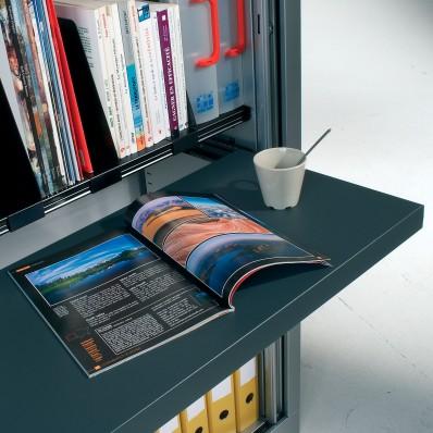 Tablette télescopique noire largeur 120 cm
